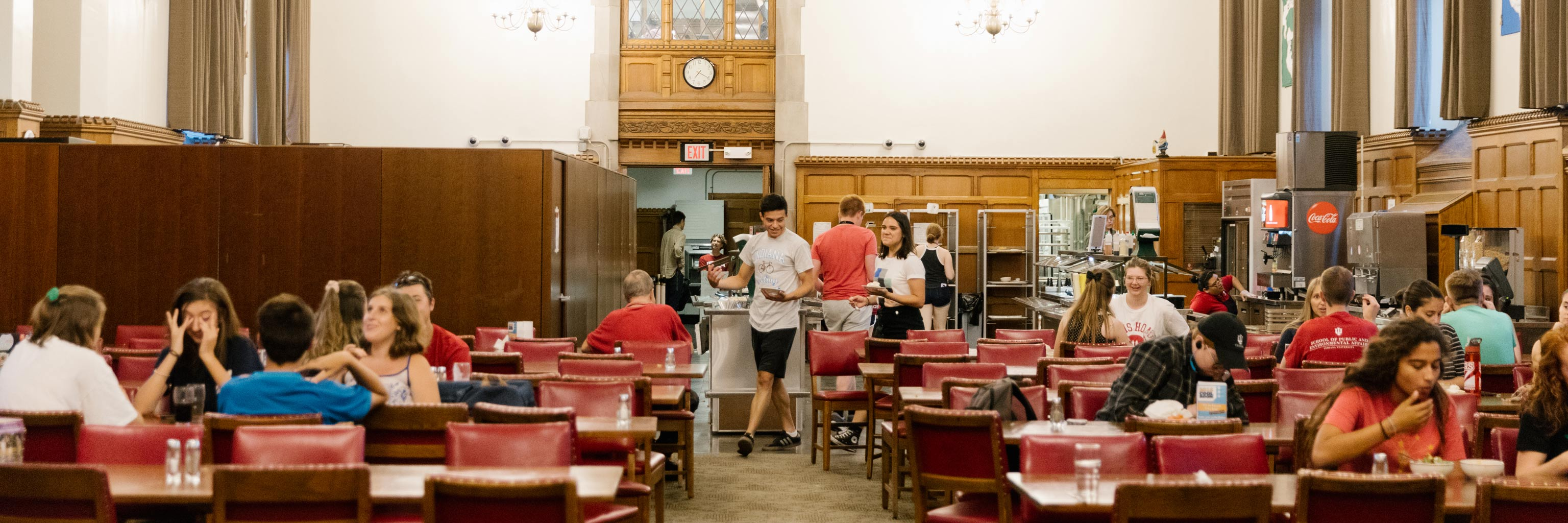 Students eating in the Collins Center dining hall